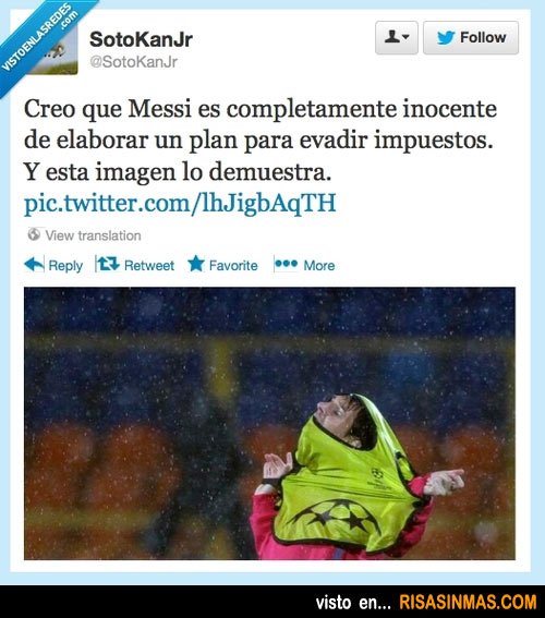 No creo que Messi sea culpable de evadir impuestos