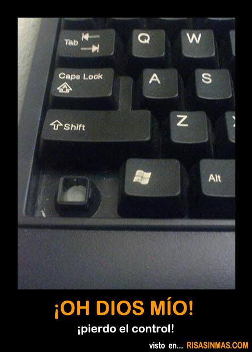 ¡Oh Dios mío! ¡Pierdo el control!