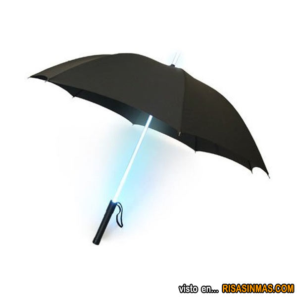 Paraguas sable de luz de Star Wars