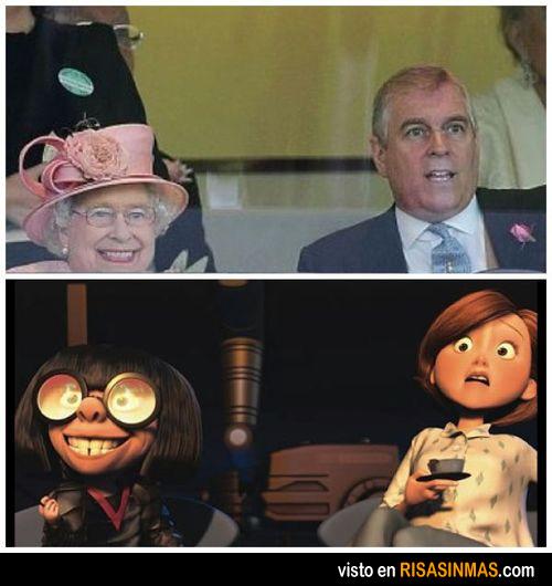 Parecidos razonables: Isabel II y Edna Moda