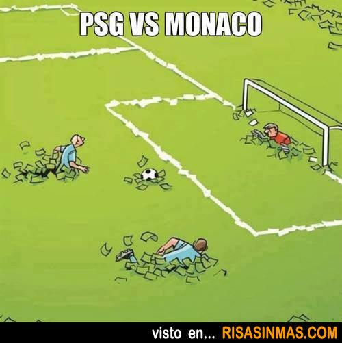 Partido de fútbol entre PSG y Monaco
