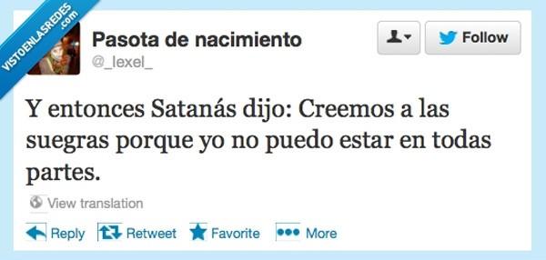 Satanás y las suegras
