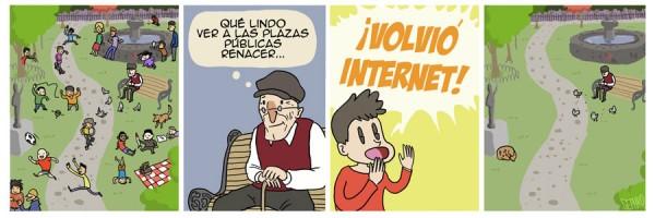 ¡Volvió Internet!