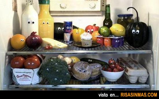 Abres el frigorífico y te encuentras con...