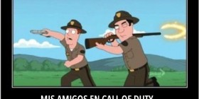 Mis amigos en Call of Duty