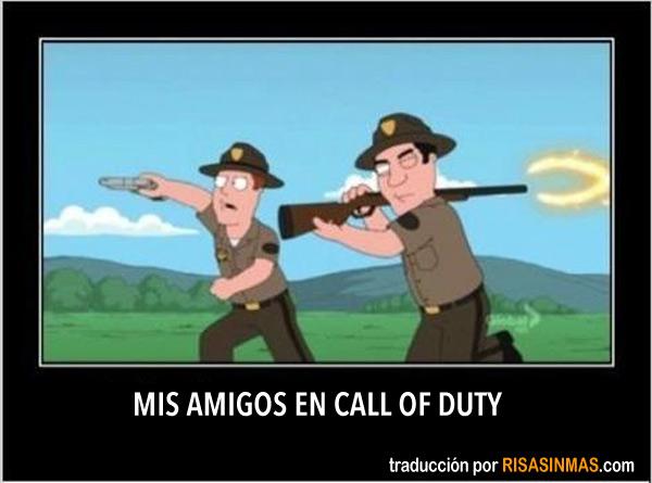 Mis amigos en Call of Duty