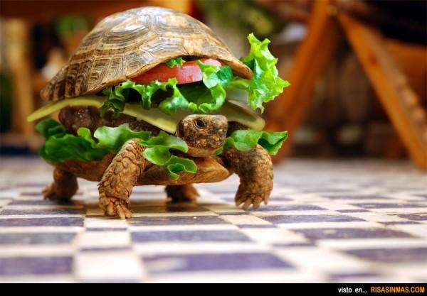 ¡Camarero la hamburguesa se mueve!