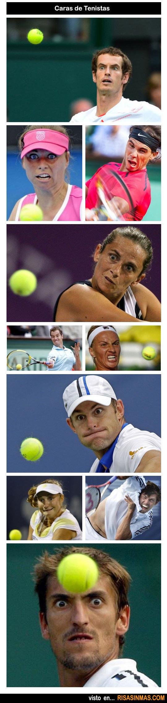Caras de tenistas