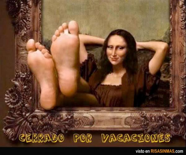 Cerrado por vacaciones: Mona Lisa