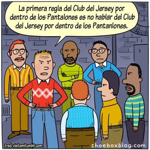 Club del Jersey por dentro de los pantalones