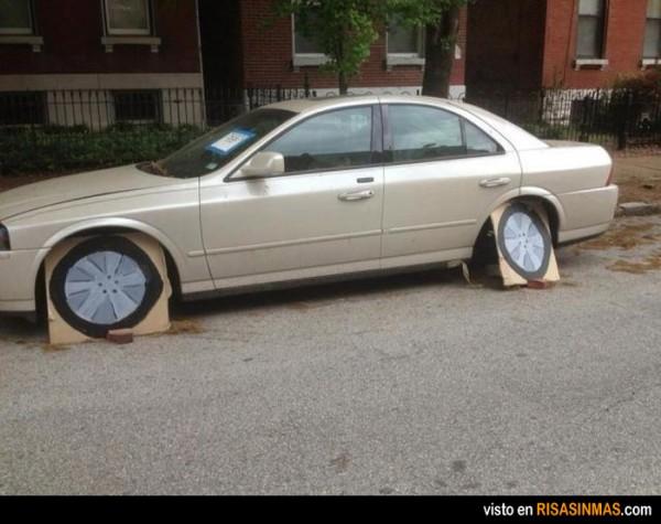 Ir a buscar el coche y verlo así