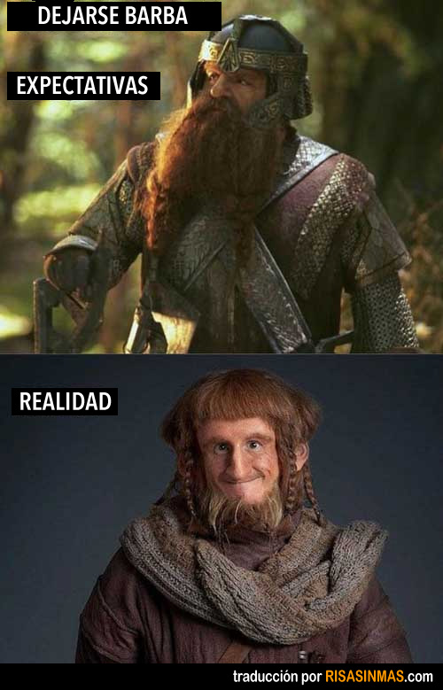 Dejarse barba: expectativa vs realidad