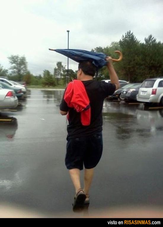 Cómo usar el paraguas en una práctica lección