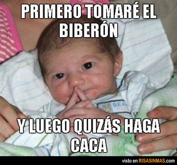 El biberón del bebé