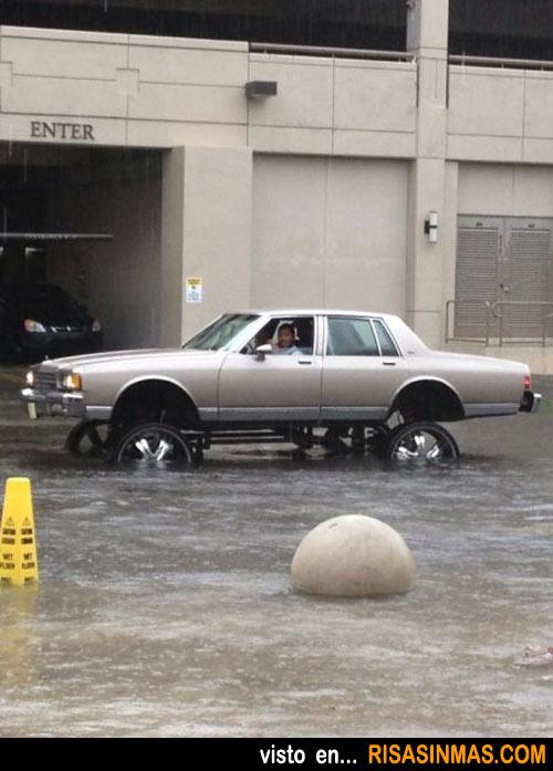El coche preparado para las inundaciones