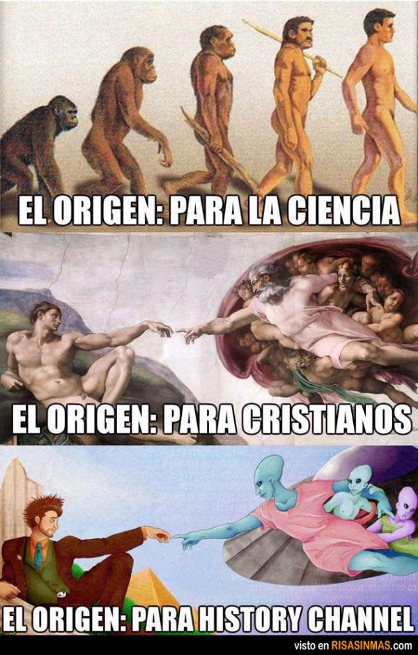 El origen del ser humano según...