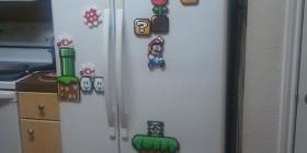 Frigorífico con imanes de Mario Bros