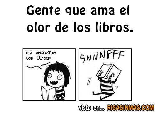 Gente que ama el olor de los libros