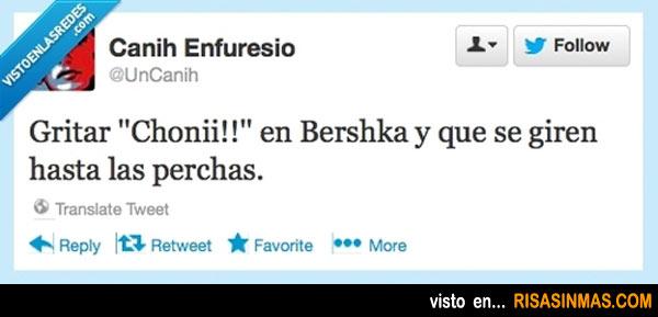 Gritar ¡Chonii! en Bershka...