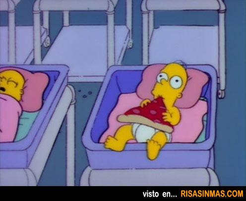 Homer Simpson de bebé