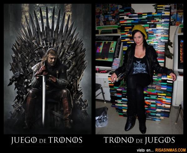 No es lo mismo: Juego de Tronos que Trono de Juegos