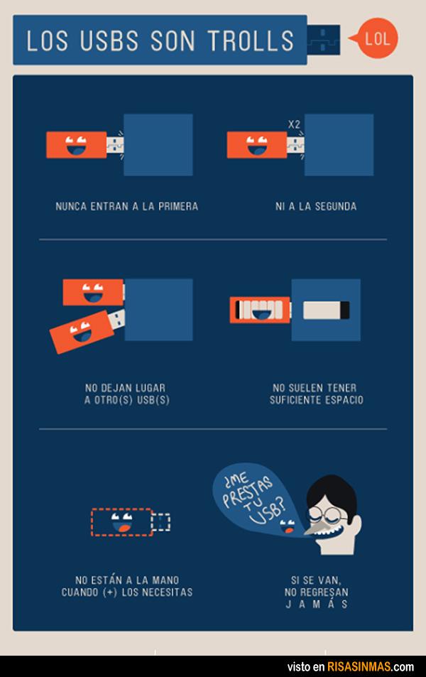 Los USB son trolls