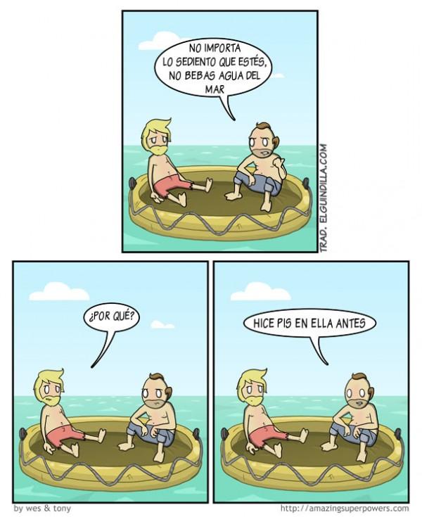 No bebas agua del mar
