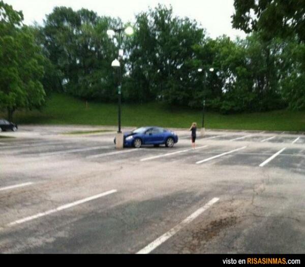 No era fácil aparcar