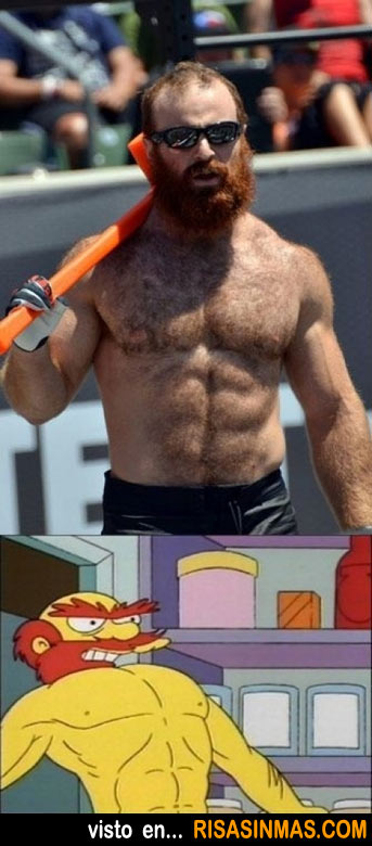 Parecidos razonables: Willie el jardinero de Los Simpson