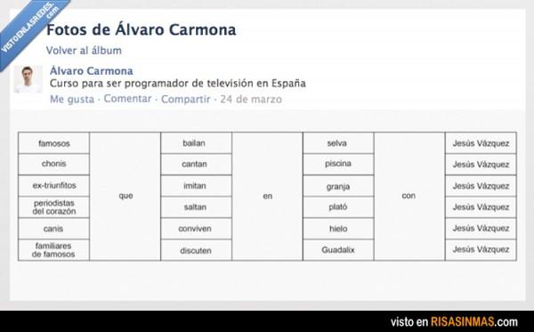 Curso de programador de televisión en España