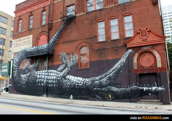 Street Art: Cocodrilo