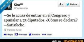 Suceso en el Congreso de los diputados
