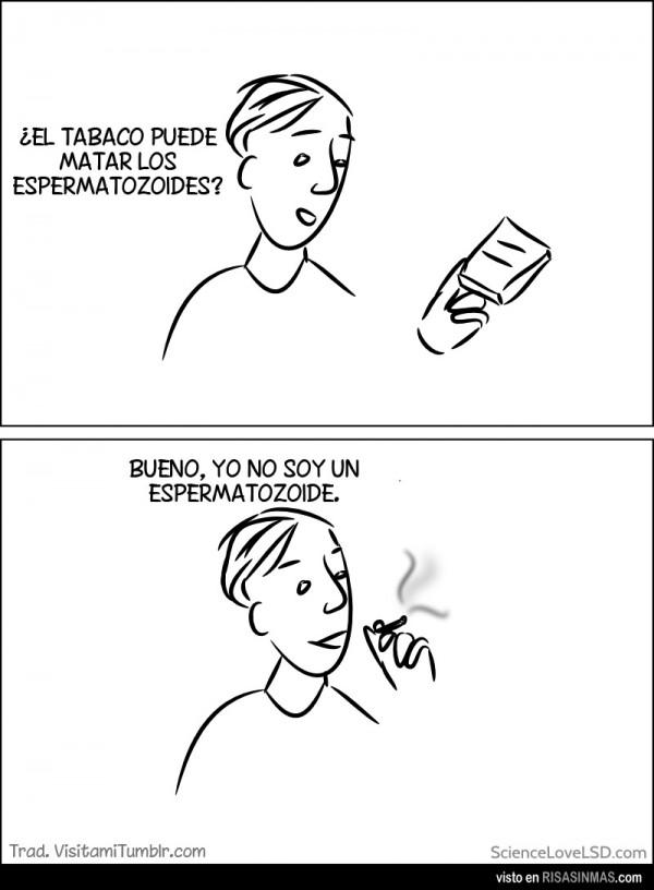 El tabaco y los espermatozoides