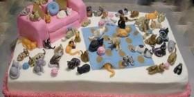 Tartas originales: fanática de los gatos