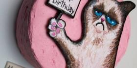 Tartas originales: Grumpy Cat (Gato cabreado)
