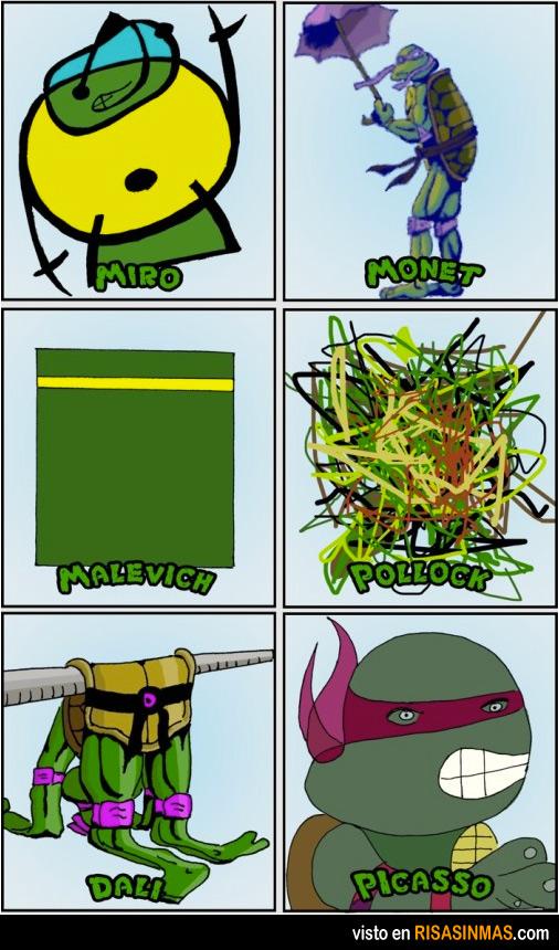 Las tortugas ninja según algunos artistas