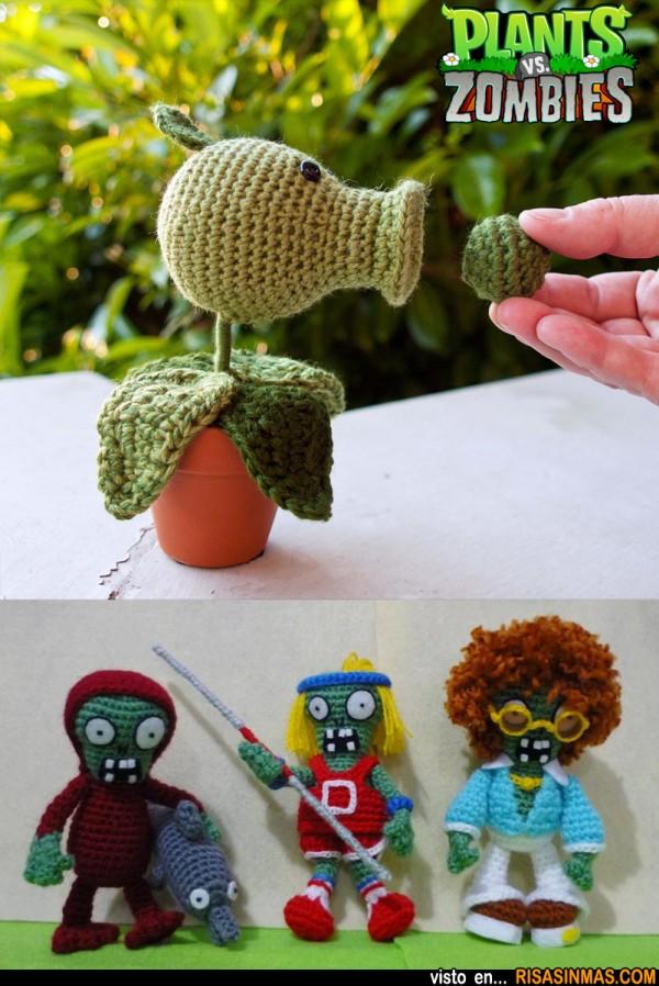 Amigurumis de Plantas vs Zombies