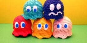 Amigurumis de los fantasmas de Pac-Man