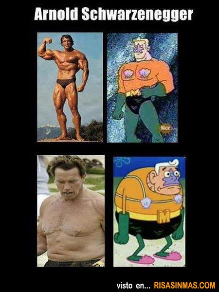 Arnold Schwarzenegger con el paso de los años