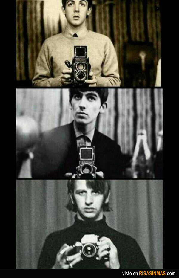 Autofotos de los Beatles para el Facebook