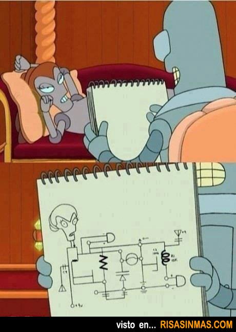 Bender emulando a Leonardo DiCaprio
