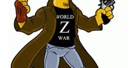 Brad Pitt de Guerra mundial Z simpsonizado