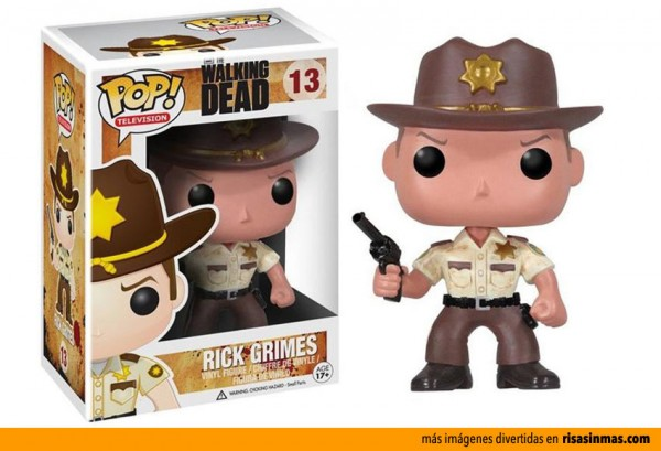 Cabezón Funko: Rick Grimes de The Walking Dead