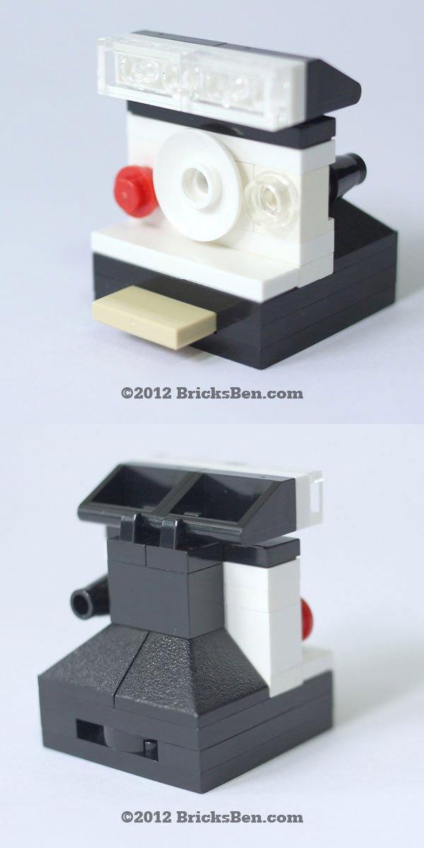 Cámara Polaroid hecha con LEGO