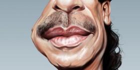 Caricatura de Carlos Santana