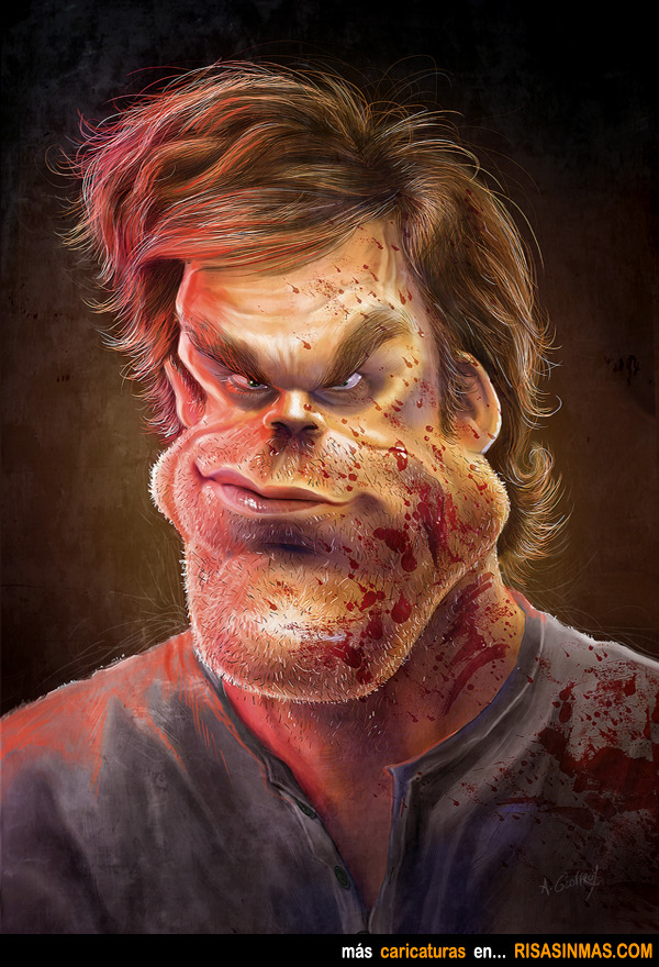 Caricatura de Dexter
