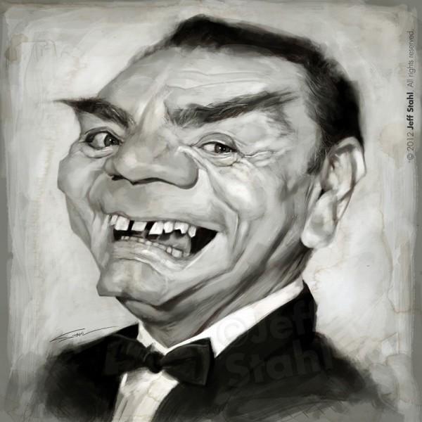 Caricatura de Ernest Borgnine