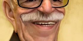 Caricatura de Gabriel García Márquez