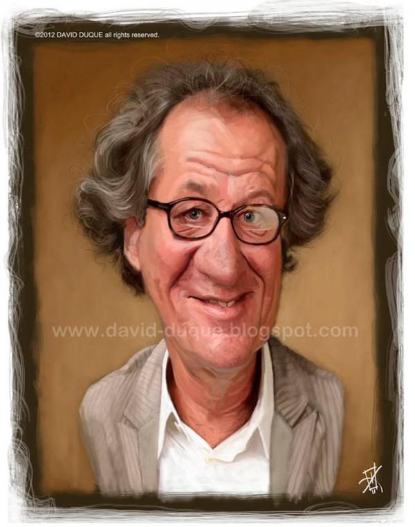Caricatura de Geoffrey Rush
