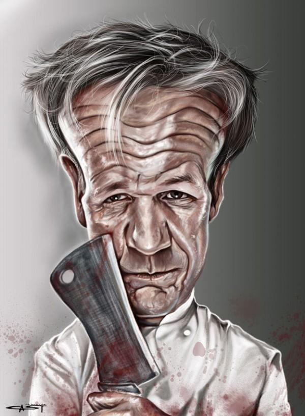 Caricatura de Gordon Ramsay